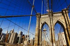 Ponte de Brooklyn, New York City Imagem de Stock Royalty Free