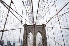 Ponte de Brooklyn, New York City Imagem de Stock