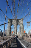 Ponte de Brooklyn, New York City, EUA foto de stock royalty free