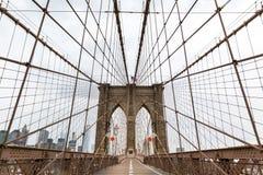 Ponte de Brooklyn, ninguém, New York City EUA fotografia de stock