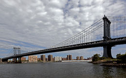 Ponte de Brooklyn no dia Fotografia de Stock Royalty Free