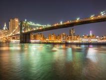 Ponte de Brooklyn no inverno imagem de stock