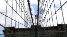 Ponte de Brooklyn NYC vídeos de arquivo