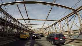 Ponte de Brooklyn para Manhattan Hyperlapse 4K video estoque