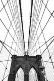 Ponte de Brooklyn, preto e branco fotografia de stock royalty free