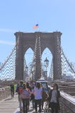 Ponte de Brooklyn Sightseeing, New York Fotos de Stock