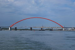 Ponte de Bugrinskij Imagem de Stock Royalty Free