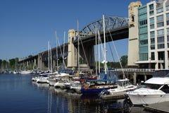 A ponte de Burrard, Vancôver, Columbia Britânica Fotografia de Stock Royalty Free