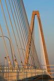 Ponte de cabo Charleston do Jr. de Arthur Ravenel S.C. Fotografia de Stock Royalty Free
