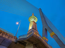 A ponte de cabo de Rama VIII Fotografia de Stock