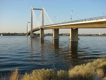 Ponte de cabo sobre o rio de Colômbia Fotos de Stock