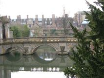 Ponte de Cambridge dos suspiros foto de stock