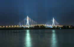 Ponte de Can Tho na noite Fotografia de Stock Royalty Free
