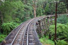 A ponte de cavalete puxando icónica de Billy Steam no Dandenong R imagens de stock royalty free