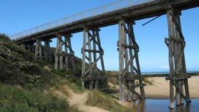 Ponte de cavalete Railway litoral Imagens de Stock Royalty Free