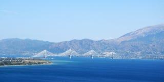 Ponte de Charilaos Trikoupis foto de stock royalty free