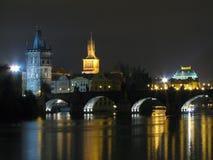 Ponte de Charles da noite Imagem de Stock Royalty Free
