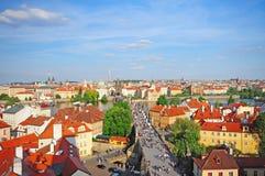 Ponte de Charles e cidade velha Praga, checa Fotos de Stock Royalty Free