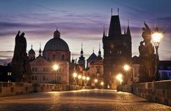 Ponte de Charles em Praga Imagens de Stock Royalty Free