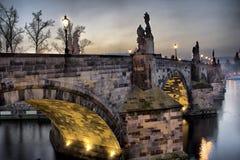 Ponte de Charles em Praga Fotos de Stock Royalty Free