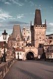 Ponte de Charles em Praga, imate tonificado Imagens de Stock Royalty Free