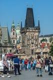 Ponte de Charles em Praga, república checa Imagens de Stock Royalty Free