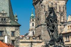 Ponte de Charles em Praga, república checa Foto de Stock Royalty Free
