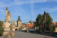 Ponte de Charles na república checa de Praga fotos de stock