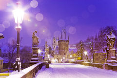 Ponte de Charles, pouca cidade, Praga (UNESCO), república checa foto de stock