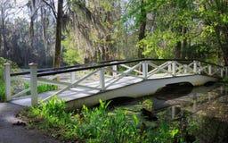 Ponte de Charleston South Carolina White Garden Foto de Stock