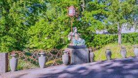 Ponte de China em Tsarskoe Selo o jardim de Alexander imagens de stock
