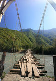 A ponte de corda Foto de Stock Royalty Free