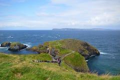 Ponte de corda de Carrick-a-Rede, Irlanda do Norte Imagem de Stock