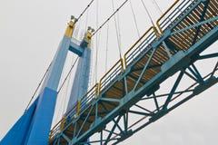 Ponte de corda no isolado Imagens de Stock Royalty Free