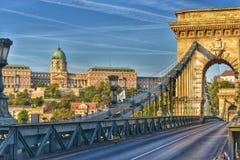 Ponte de corrente de encantamento Budapest fotografia de stock royalty free