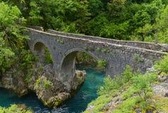 A ponte de Danilo sobre o rio de Mrtvica, Montenegro Fotografia de Stock