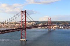 ponte de 25 de abril em Lisboa Foto de Stock