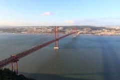 ponte de 25 de abril em Lisboa Fotografia de Stock Royalty Free