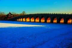 Ponte de dezessete arcos Fotografia de Stock Royalty Free