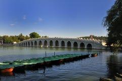 Ponte de dezessete arcos Imagens de Stock Royalty Free
