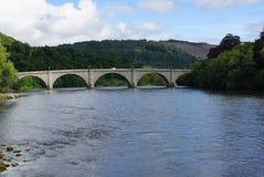 Ponte de Dunkeld em Reino Unido fotografia de stock