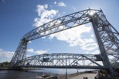 Ponte de elevador aérea em Duluth Minnesota foto de stock royalty free