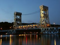 Ponte de elevador do lago Portage imagens de stock royalty free