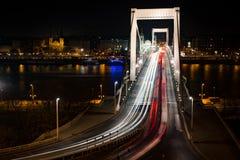 Ponte de Elisabeth em Budapest Imagem de Stock Royalty Free