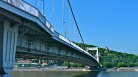 Ponte de Elizabeth (Erzsebet) Fotos de Stock Royalty Free