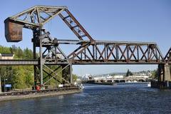 Ponte de equilíbrio, Seattle, EUA imagens de stock