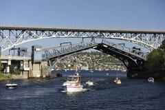 Ponte de equilíbrio, Seattle, EUA foto de stock