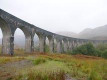 Ponte de estrada de ferro Escócia de Glenfinnan fotografia de stock royalty free