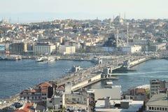 Ponte de Galata em Istambul fotos de stock