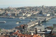 Ponte de Galata em Istambul imagem de stock